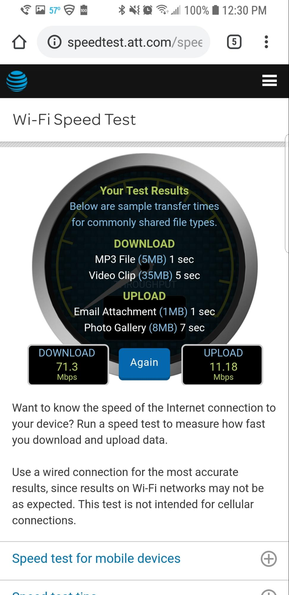 At T Speed Test Review