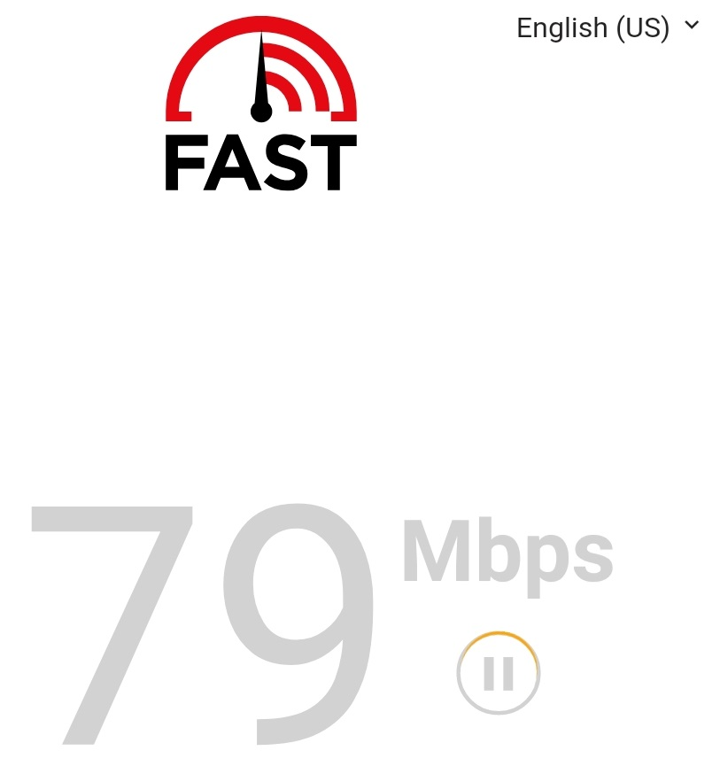 AFast.com Speed Test on Mobile