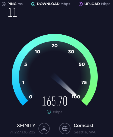 AOokla Speed Test on Desktop