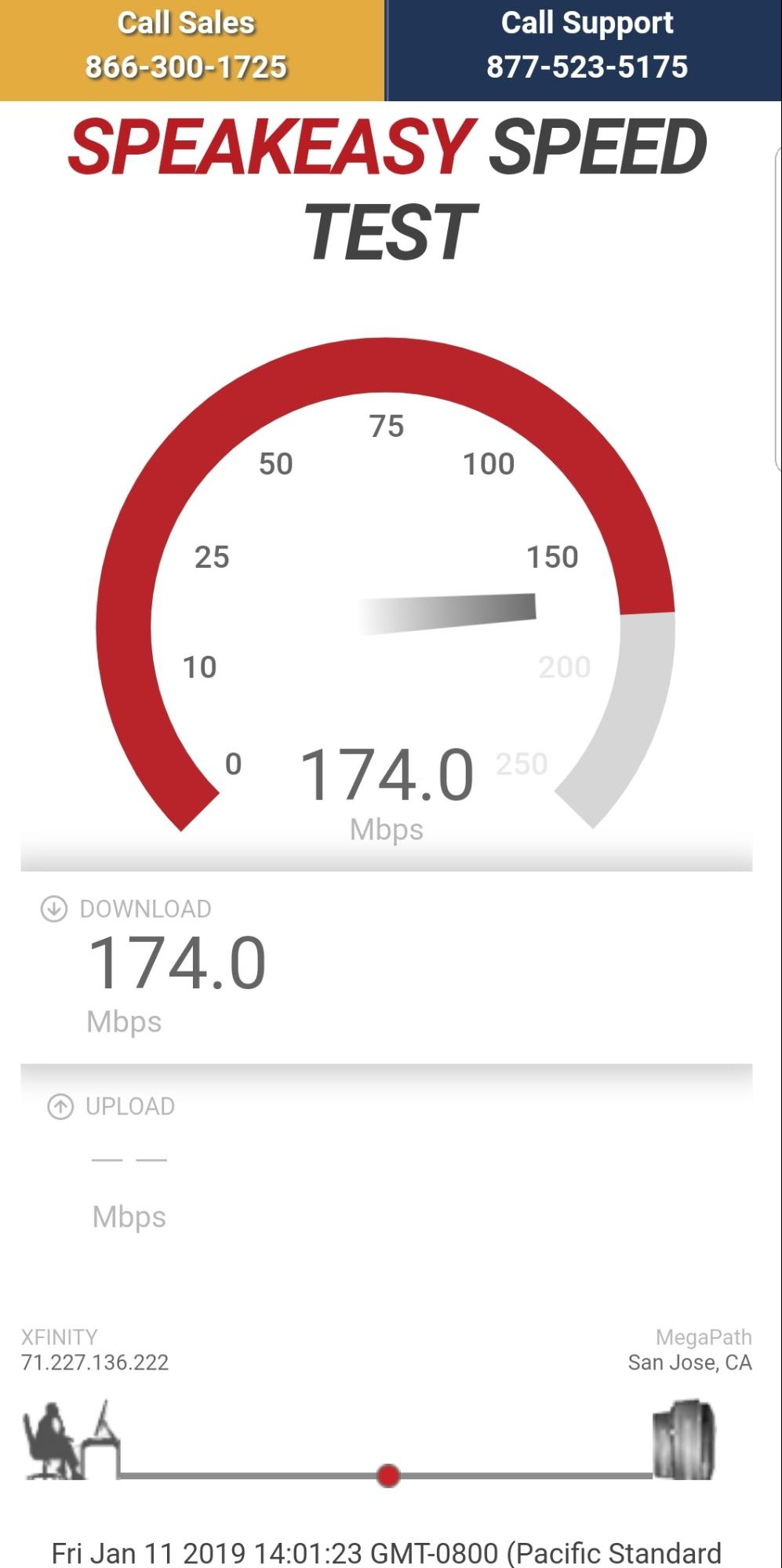 ASpeakeasy Speed Test on Mobile