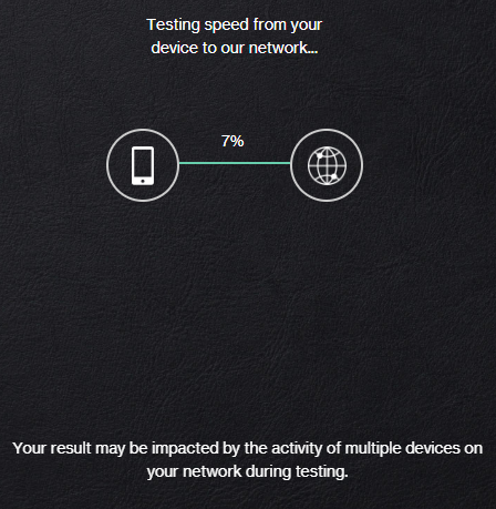 AVerizon Speed Test on Desktop